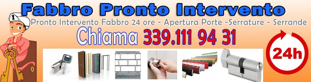 339.1119431 Pronto Intervento Fabbro